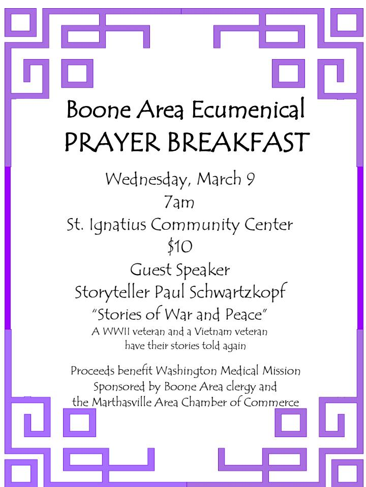 Boone area ecumenical prayer breakfast thecheapjerseys Image collections